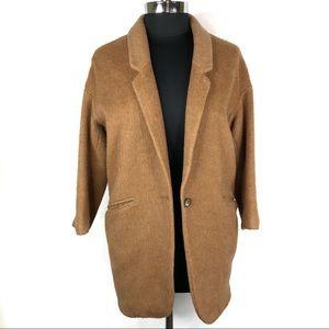 TopShop Cocoon Camel Mohair Boyfriend Coat